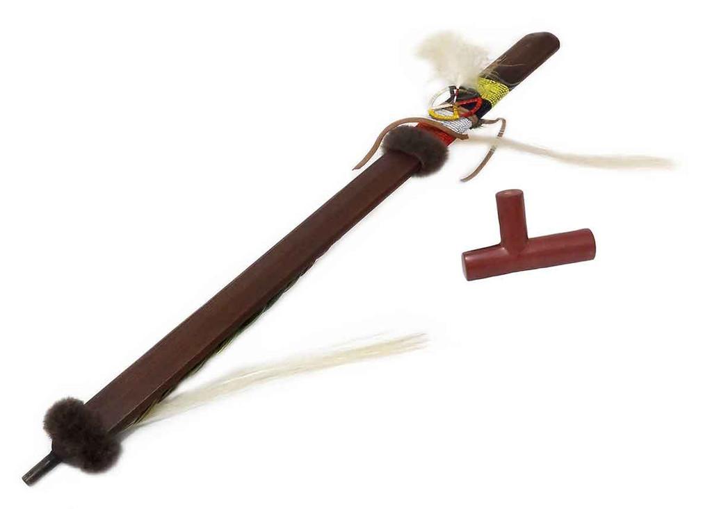 Pipe Stem & Bowl w. Quilled Medicine Wheel