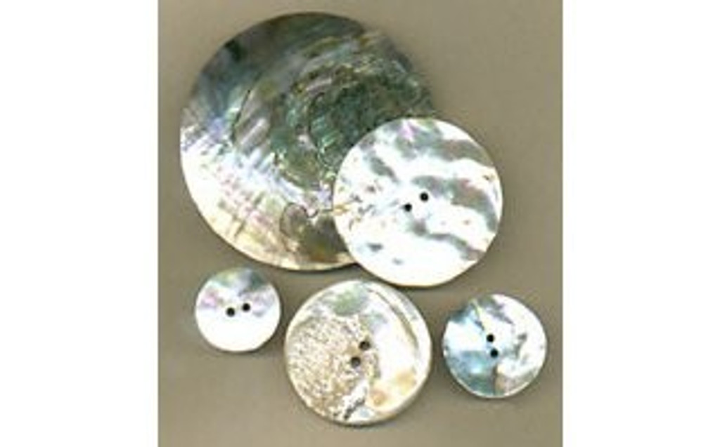 Abalone Shell Discs (2 Hole)