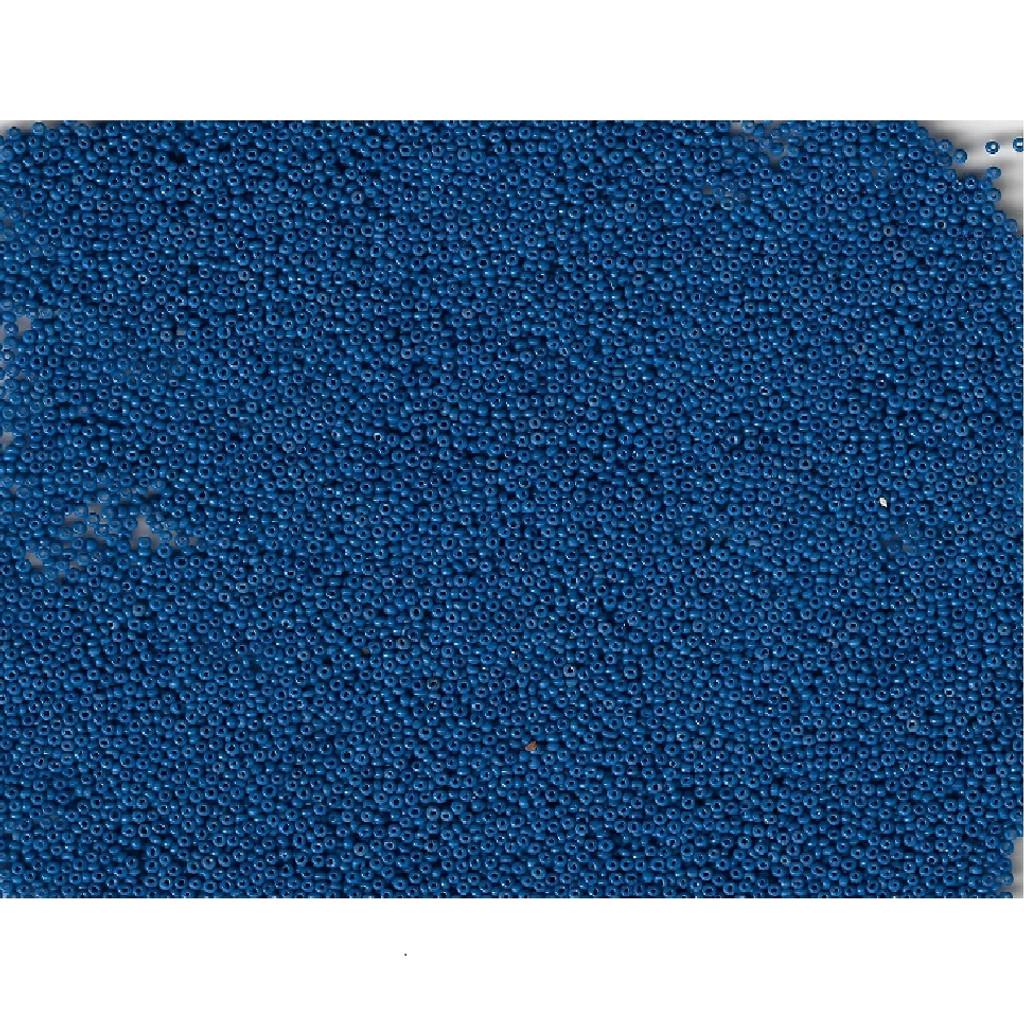 Venetian Midnight Blue 1 Opaque Glass Bead: 12/0