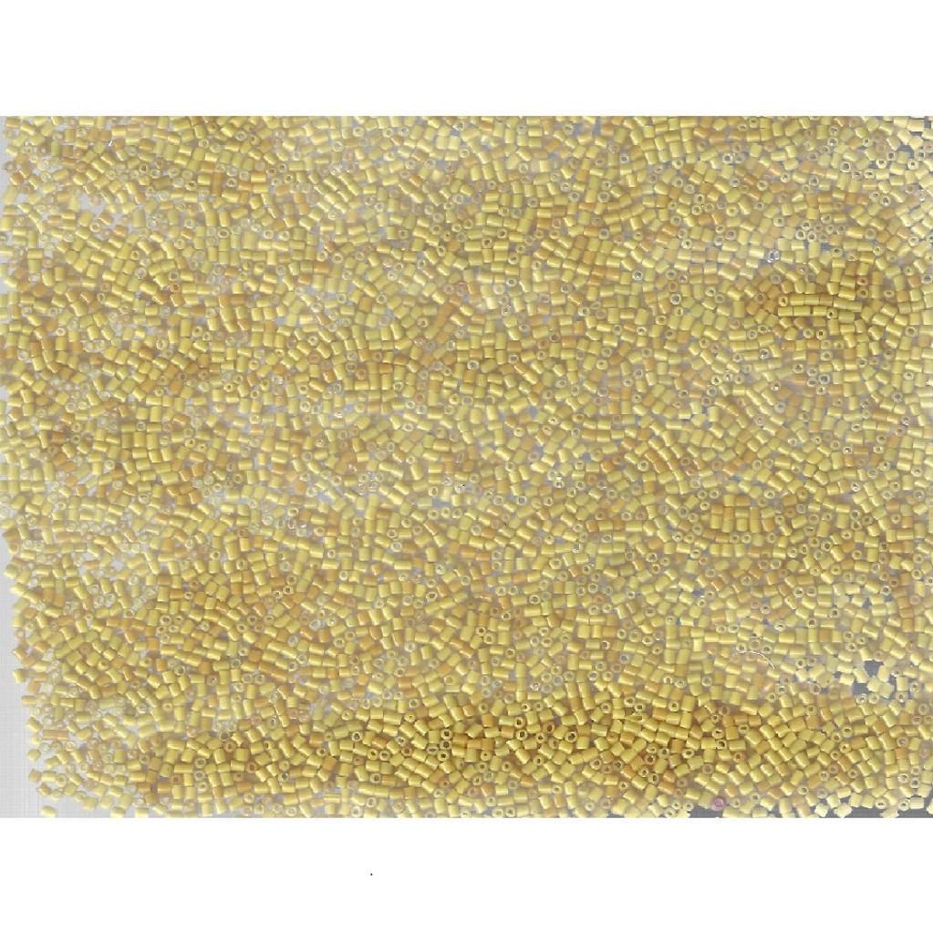 Venetian Glass Beads Goldenrod 9 Translucent: Size 2 Bugle Bead