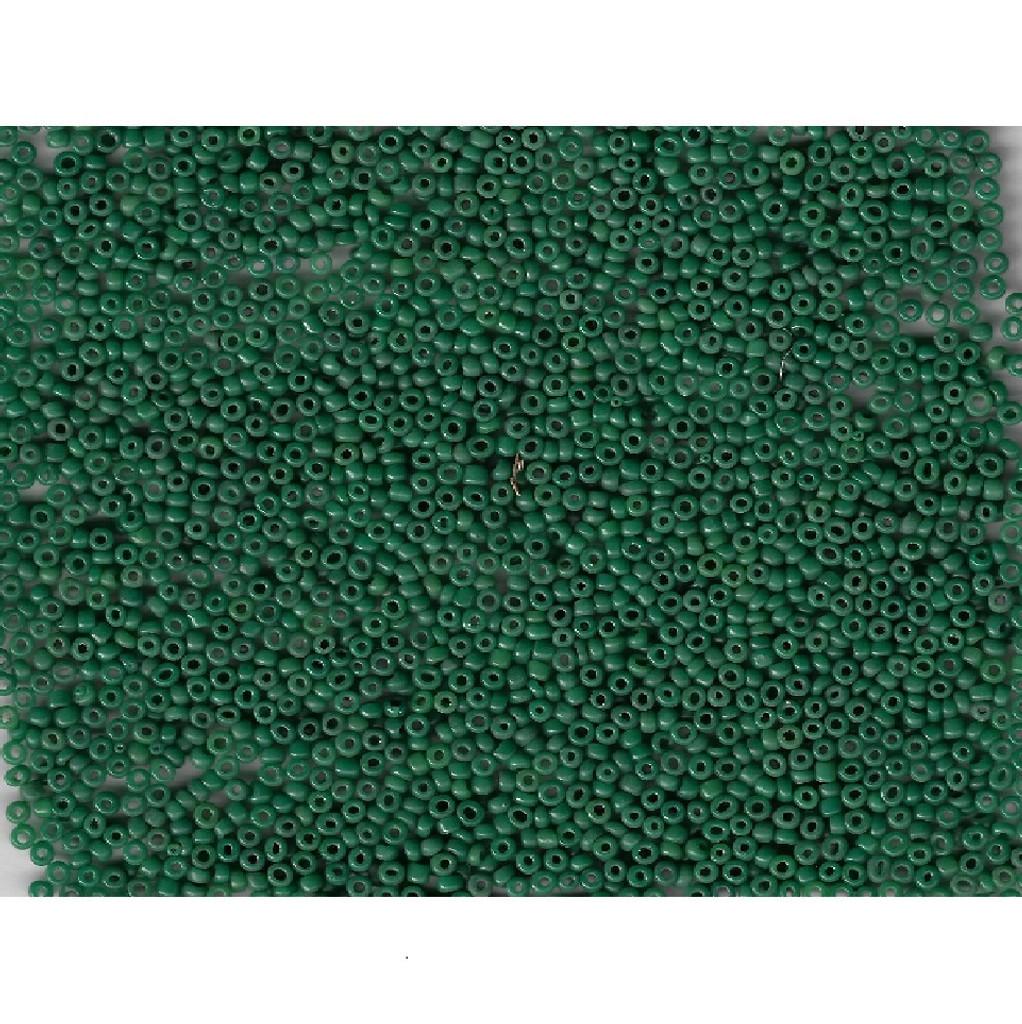 Venetian Glass Beads Forest Green 20 Translucent: Size 09/0