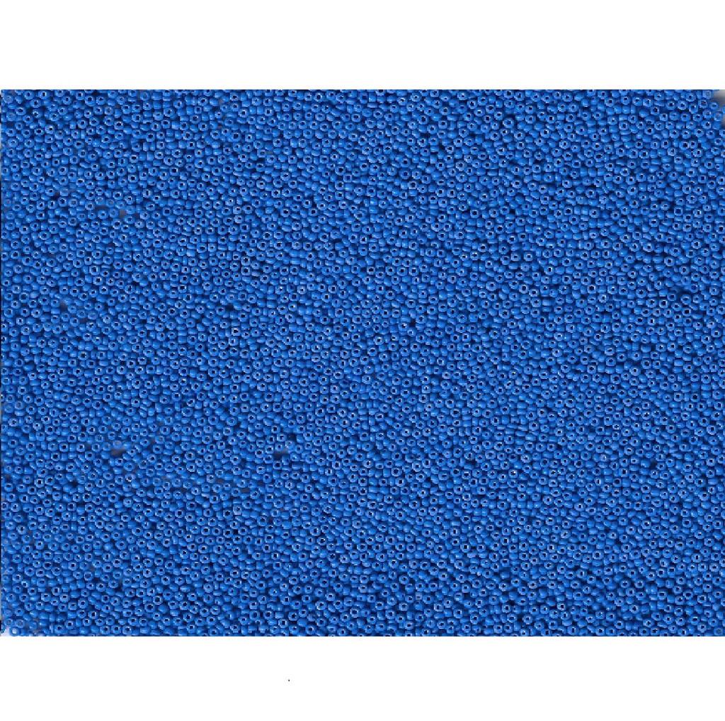 Venetian Medium Blue 17 Opaque Glass Bead: 12/0