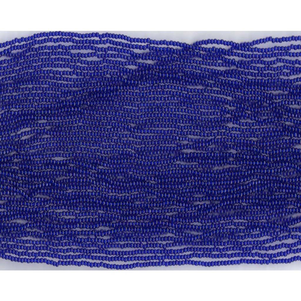Czech Navy Blue Transparent Glass Bead (266): 10/0