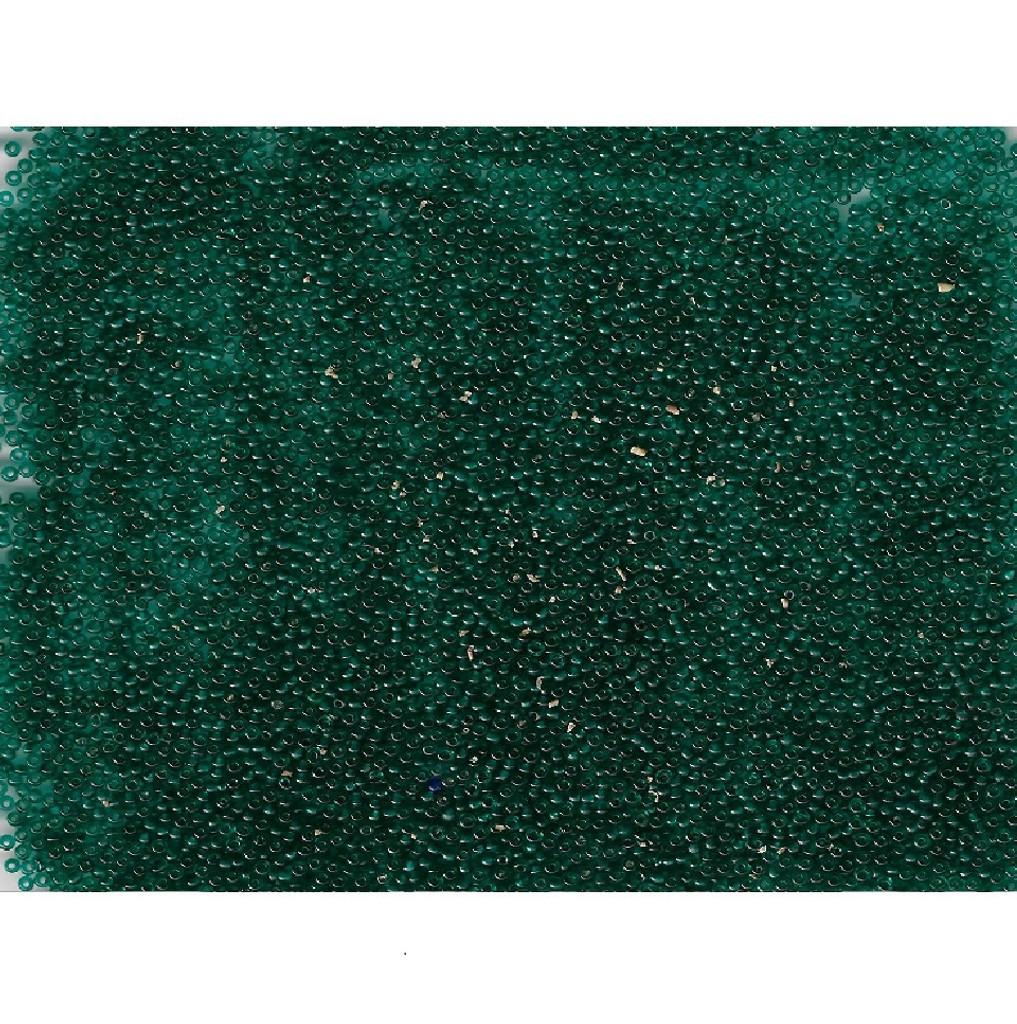 Venetian Glass Beads Jungle Green 2 Transparent: Size 11/0