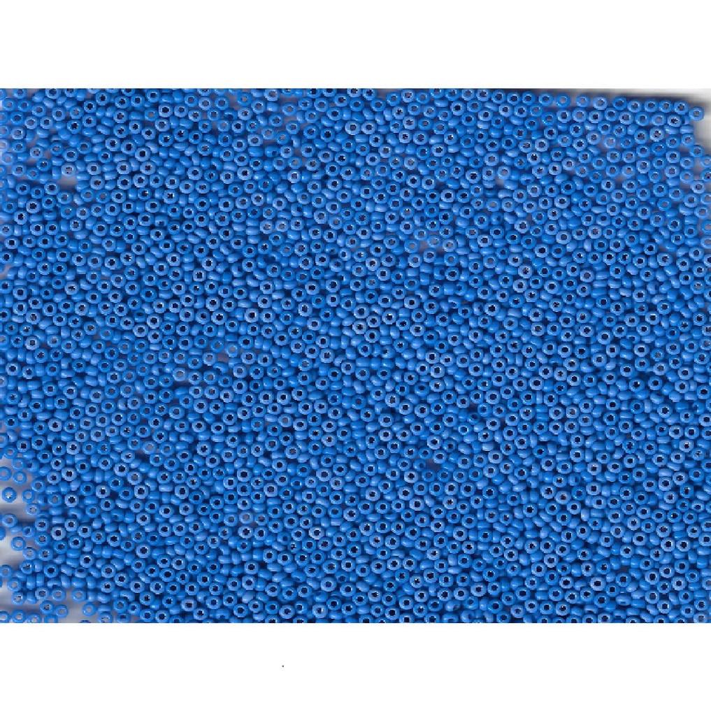 Venetian Blue 8 Opaline Glass Bead: Size 11/0