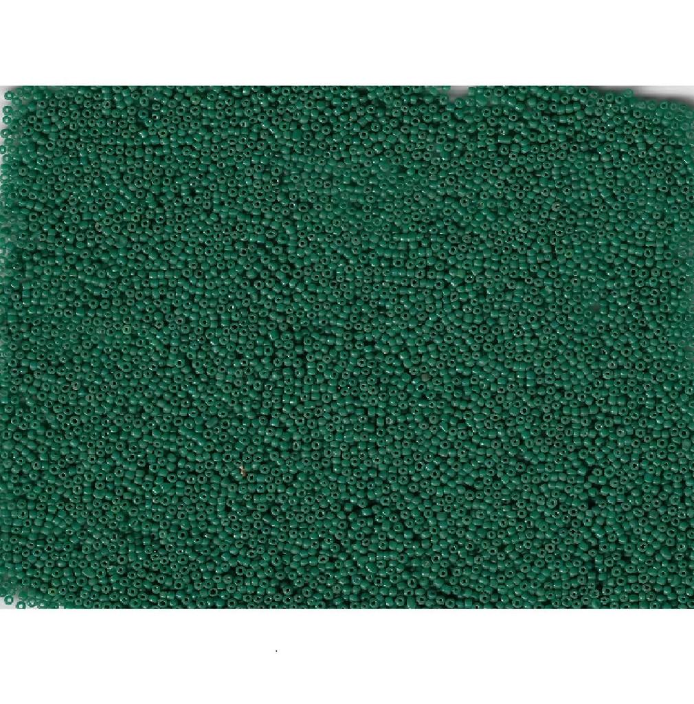 Venetian Glass Beads Pine Green 4 Translucent: Size 12/0