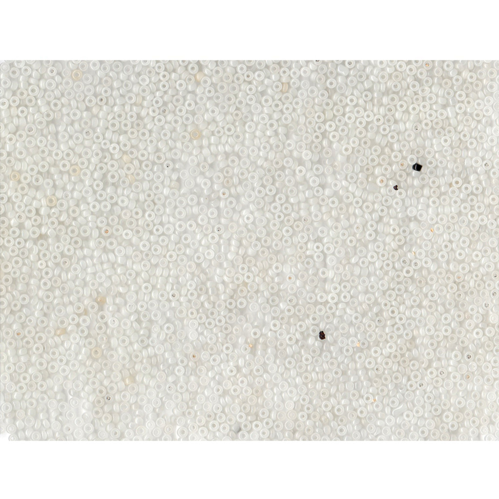 Venetian Glass Beads White 1 Translucent: Size 10/0