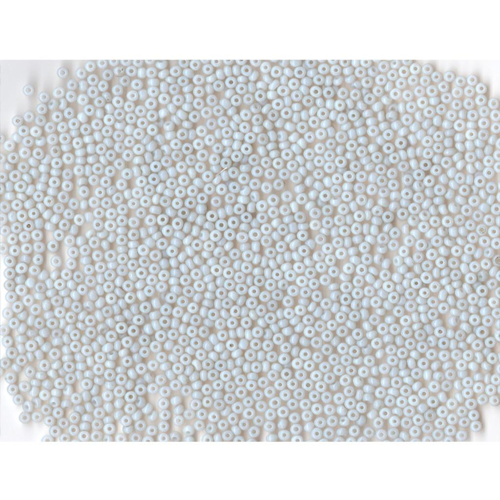 Venetian Glass Bead White 3 Opaline: Size 09/0