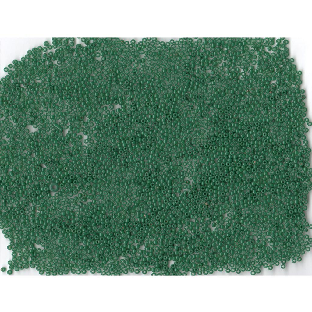 Venetian Glass Beads Green 2 Translucent: Size 11/0