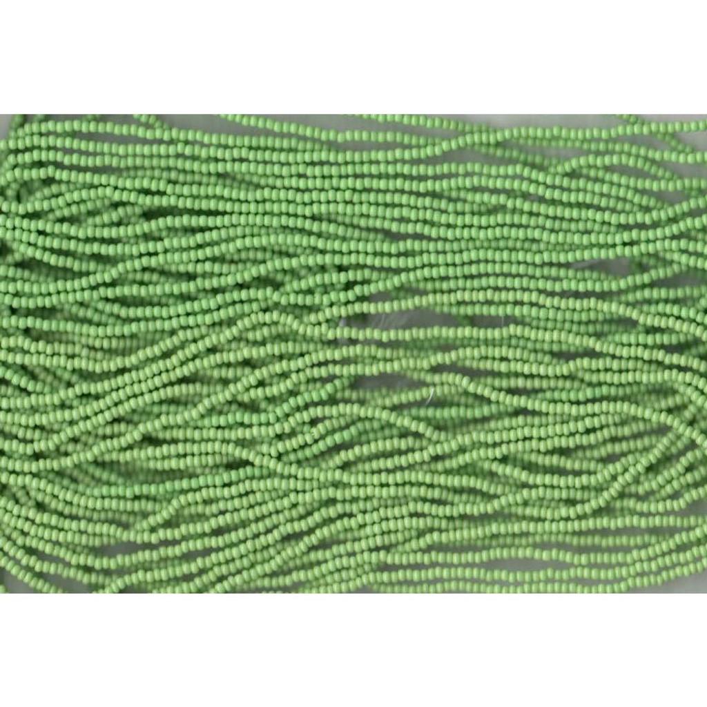 Czech Light Green Opaque Glass Bead (201): 10/0