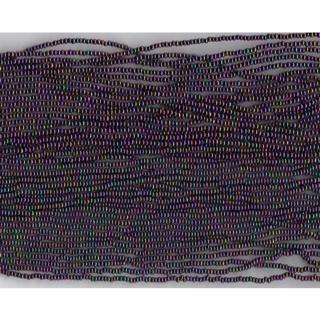 Czech Purple Iris Metallic Glass bead (15): 13/0 Cut