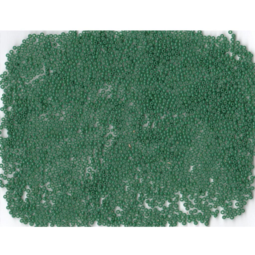 Venetian Glass Beads Green 4 Translucent: Size 11/0