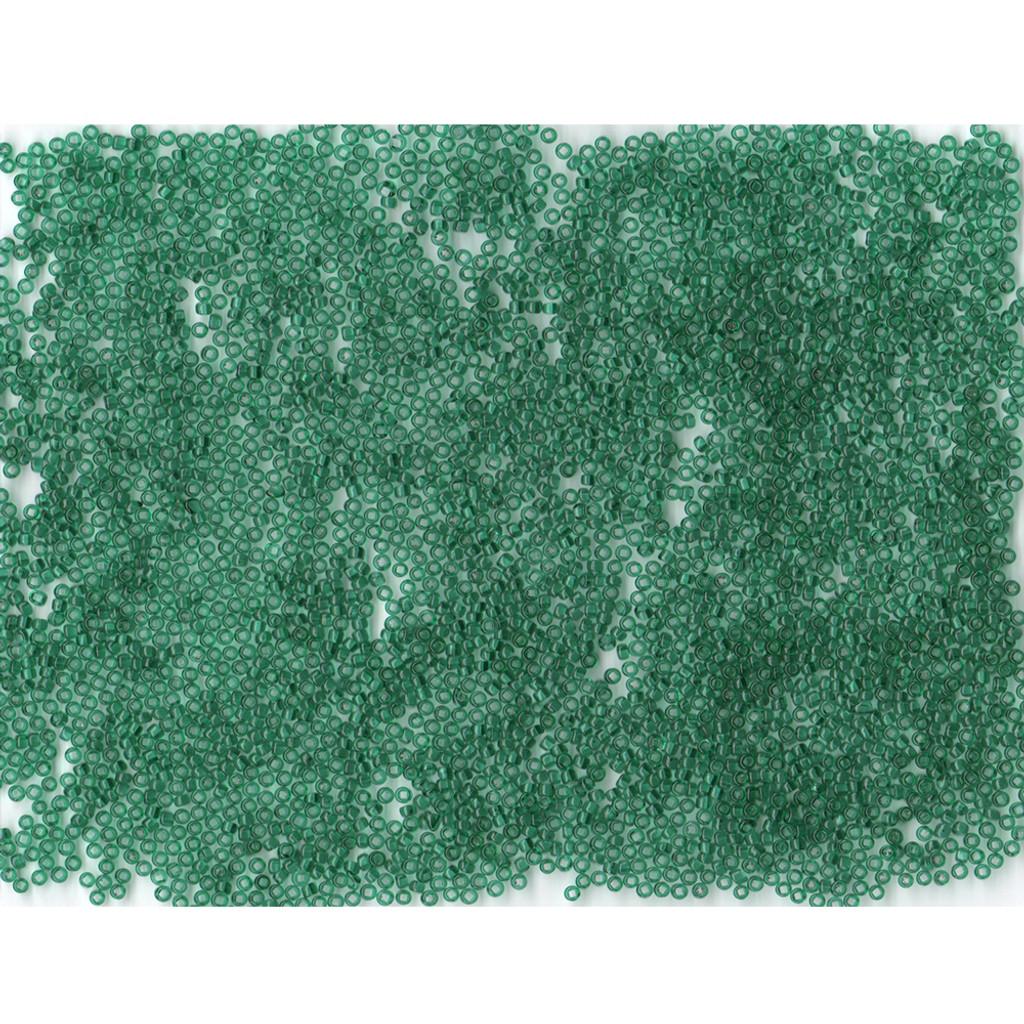 Venetian Glass Beads Jungle Green 1 Transparent: Size 11/0