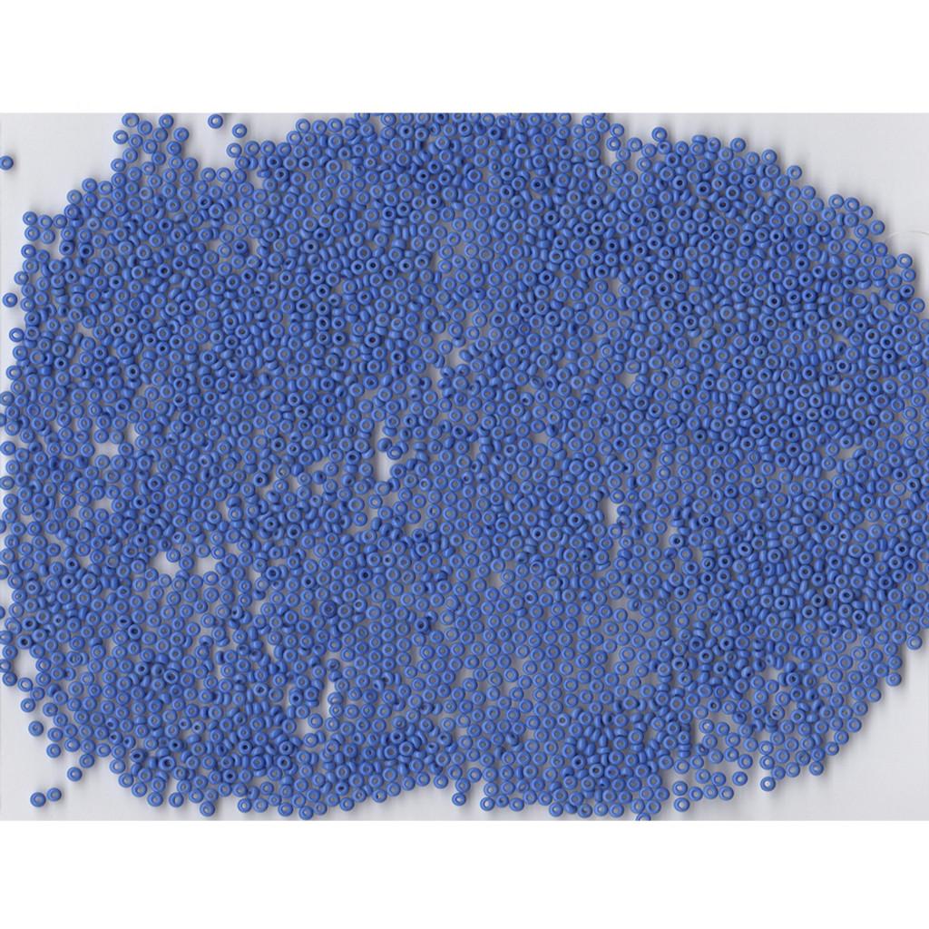Venetian Blue 15 Opaque Glass Bead: Size 11/0