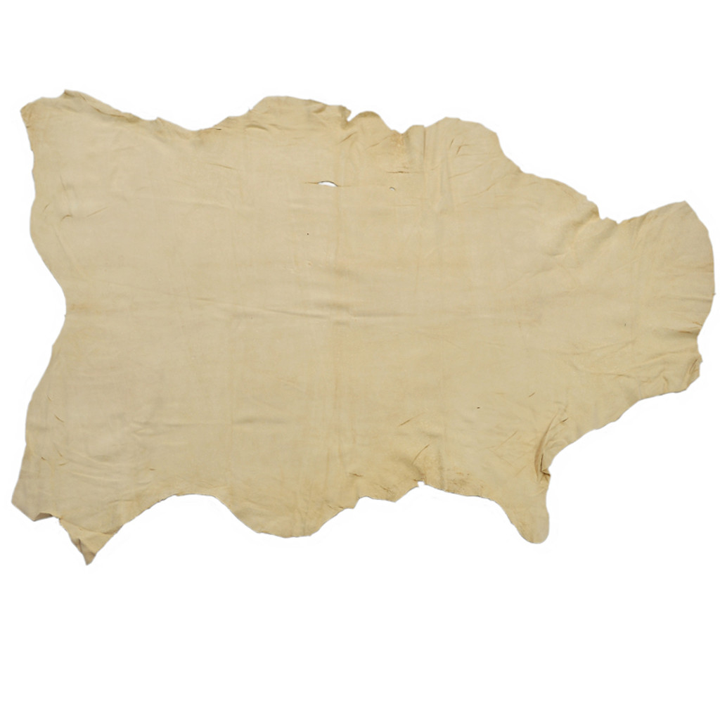 German Tanned Deer Hide (Leather): Natural