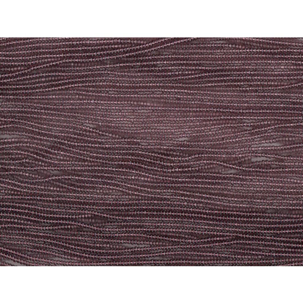 Czech Dark Amethyst Transparent Glass Bead (284): 13/0 Cut
