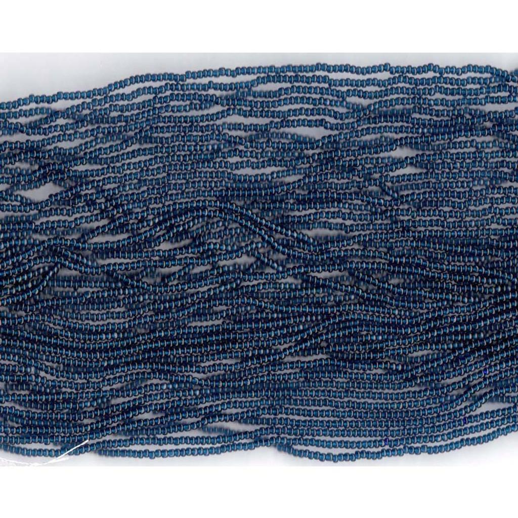 Czech Montana Blue Transparent Glass Bead (268): 11/0