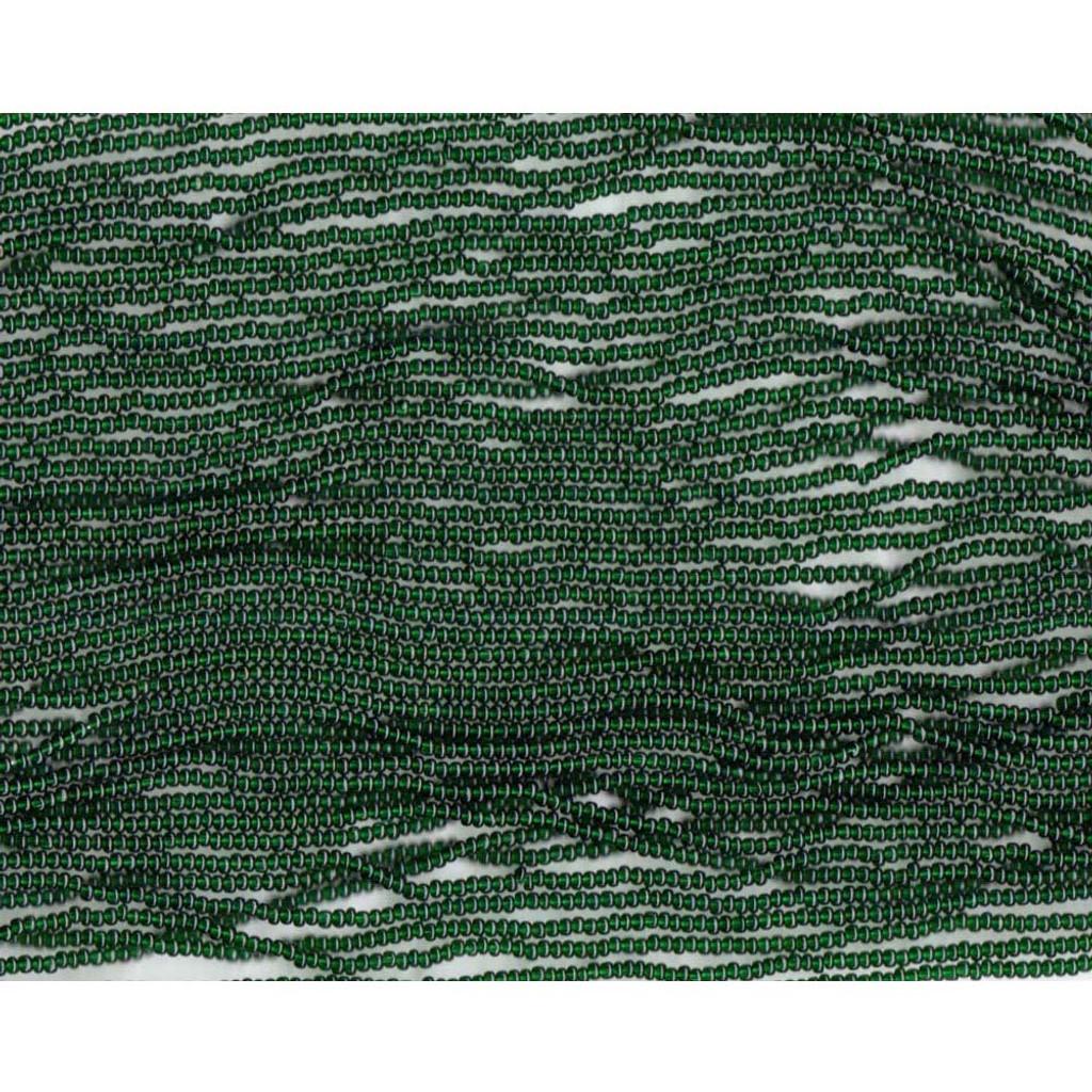 Czech Dark Kelly Green Transparent Glass Bead (215): 13/0 Cut