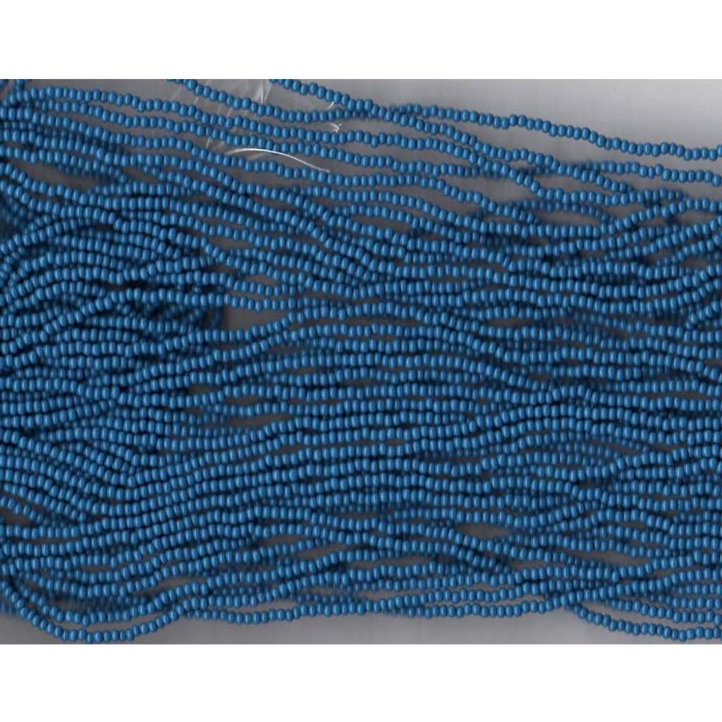 Czech Medium (Trader) Blue Opaque Glass Bead (247): 11/0
