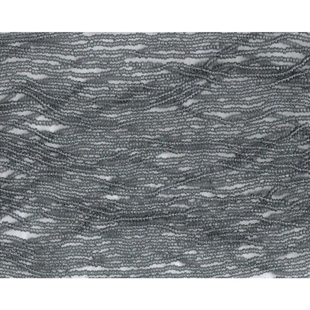 Czech Grey Transparent Glass Bead (33): 13/0 Cut