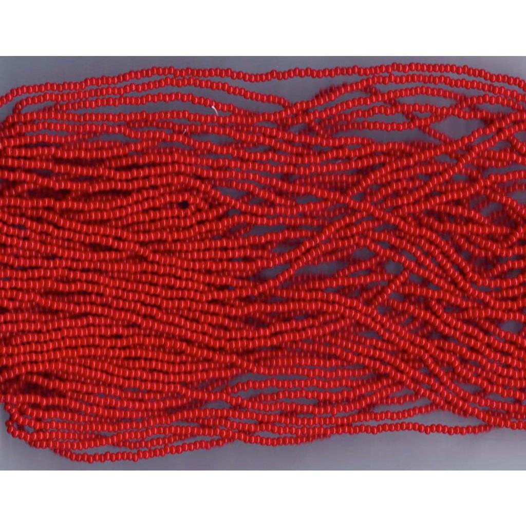 Czech Dark Red Opaque Glass Bead (82): 13/0 Cut