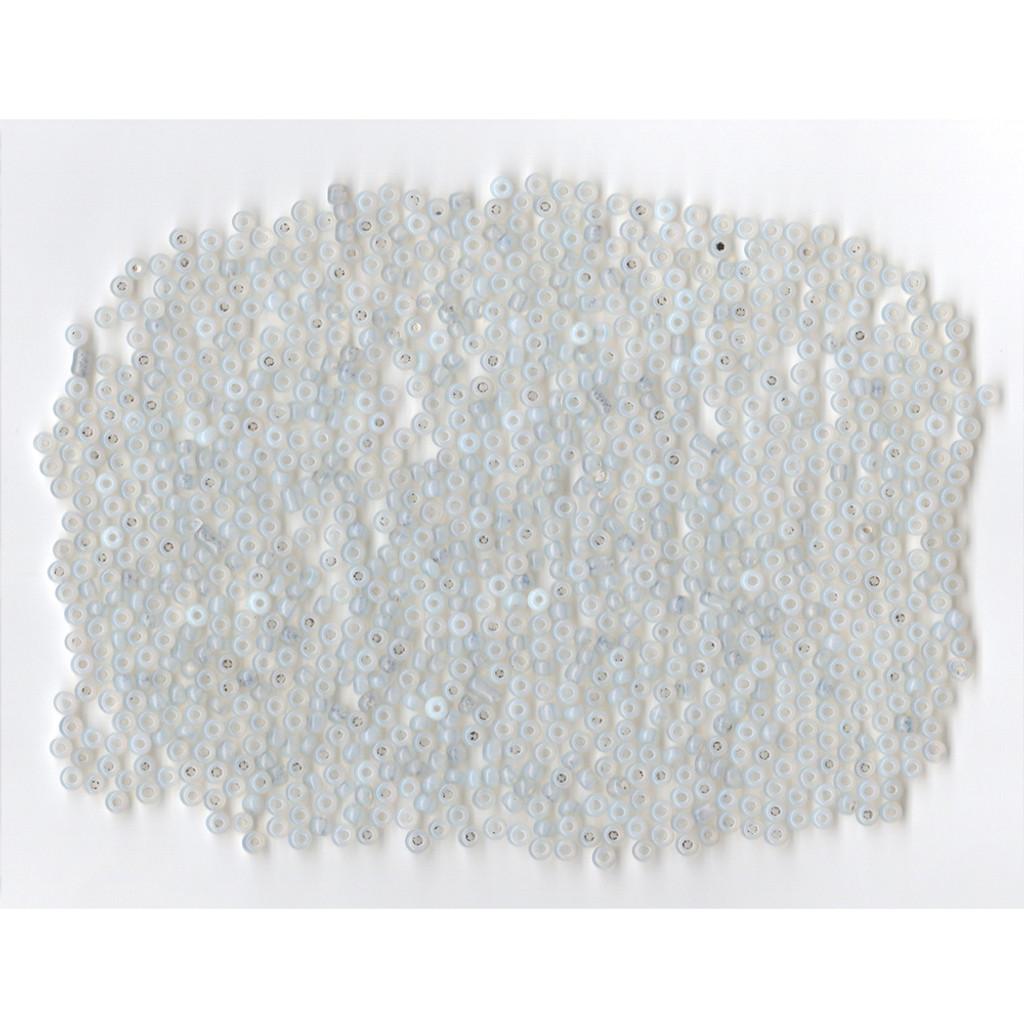 Venetian Glass Bead Clear 1 Opaline: Size 09/0