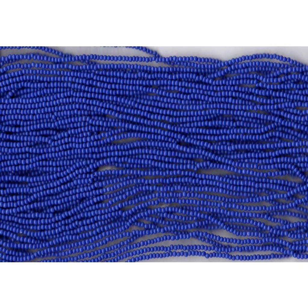Czech Royal Blue Opaque Glass Bead (260): 13/0 Cut