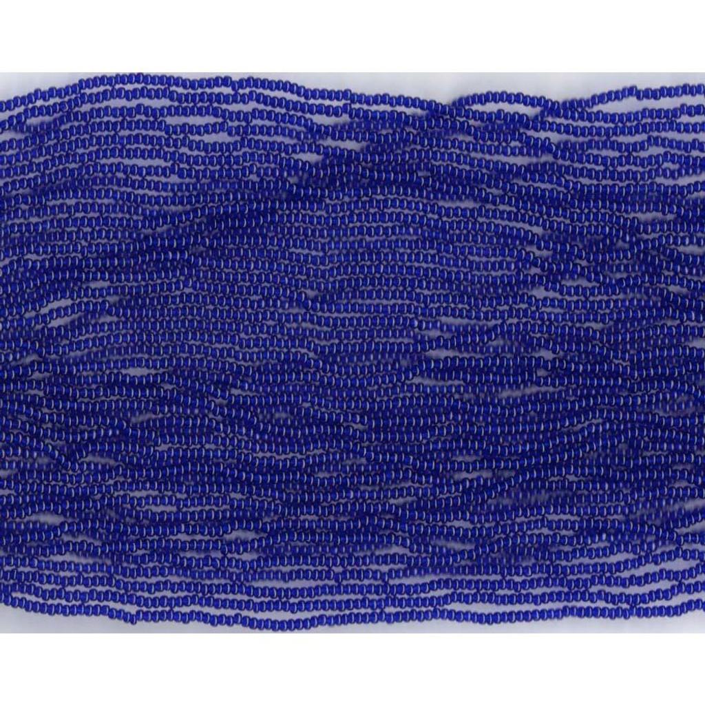 Czech Cobalt Blue Transparent Glass Bead (266): 11/0