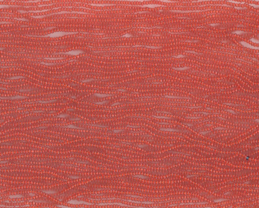 Czech Orange Transparent Glass Bead (122): 10/0