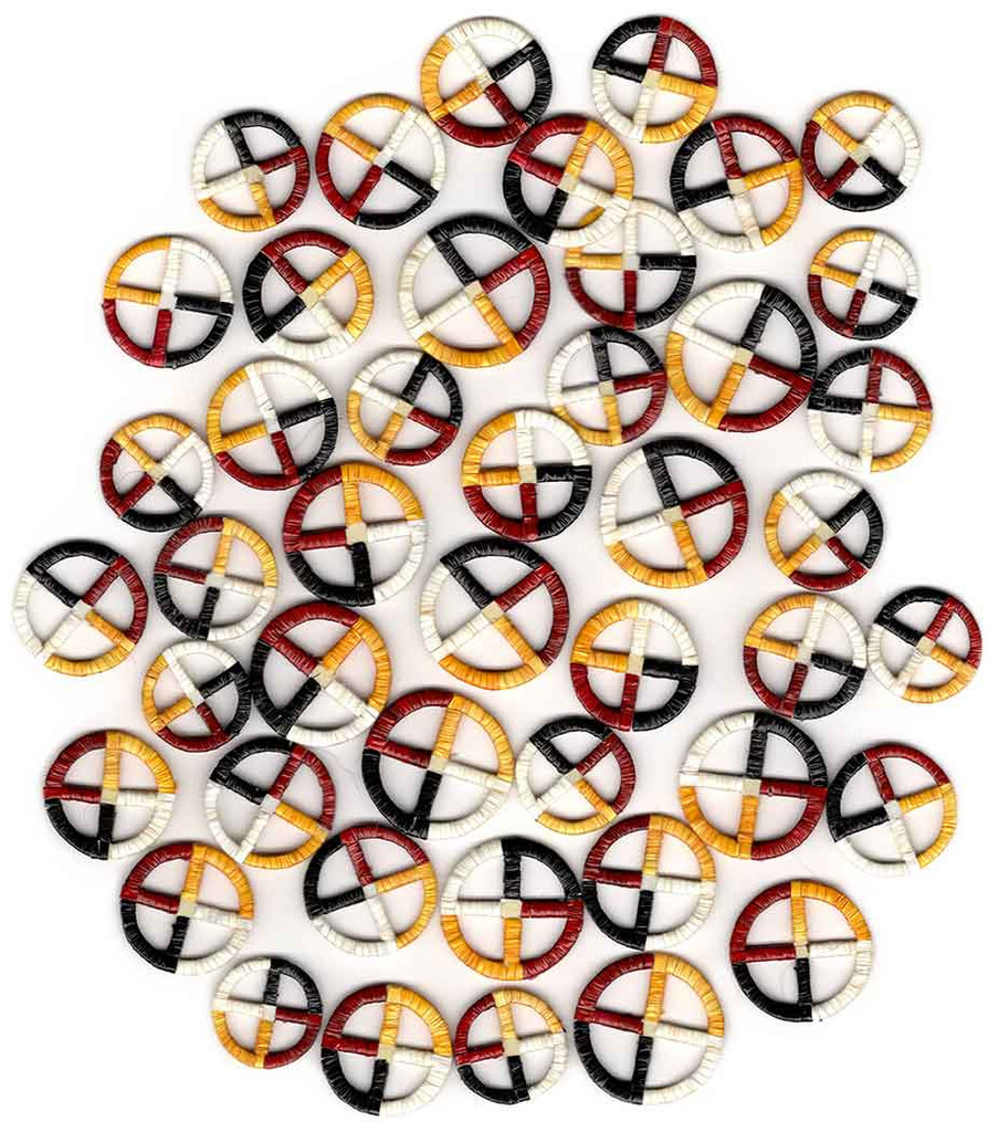 Native American Hand Made (small) Quilled Medicine Wheel