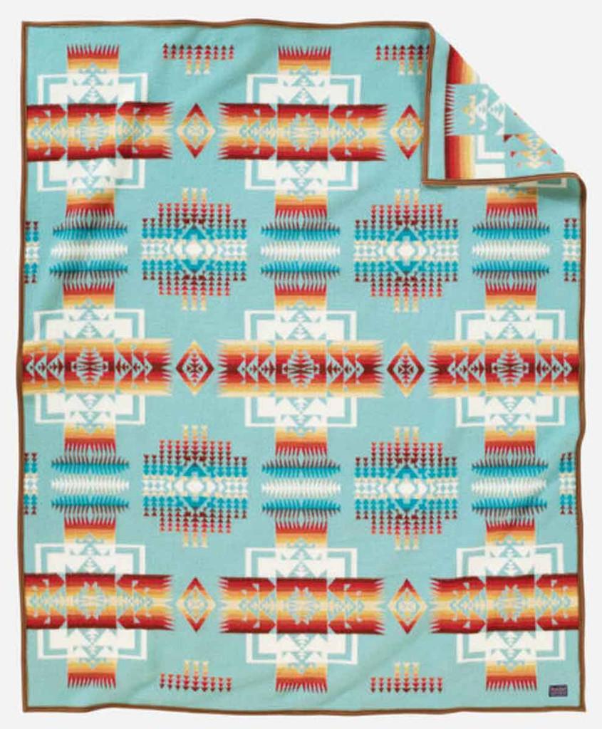 Pendleton Blanket: Chief Joseph Collection, Aqua