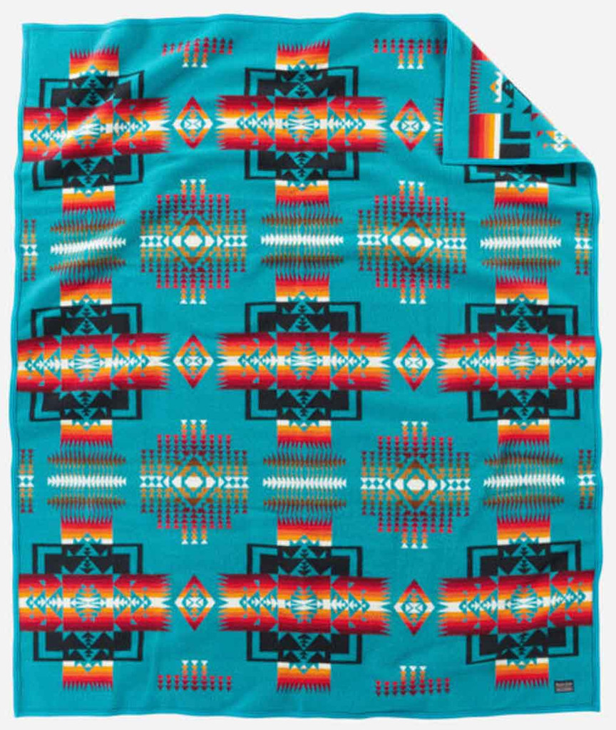 Pendleton Blanket: Chief Joseph Collection, Turquoise