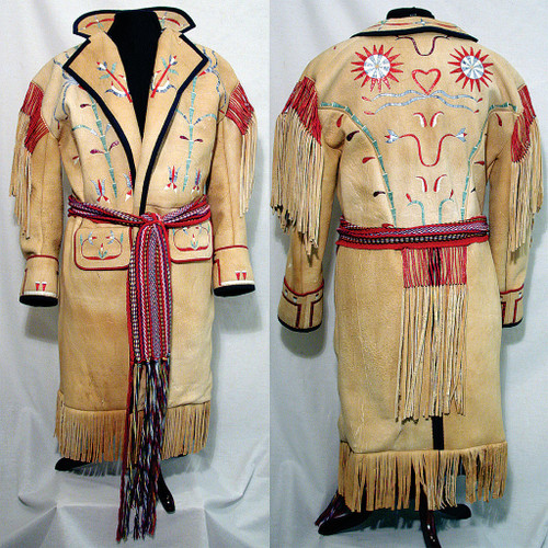 Metis Style Coat w. Quilled Design & L'Assomption Sash