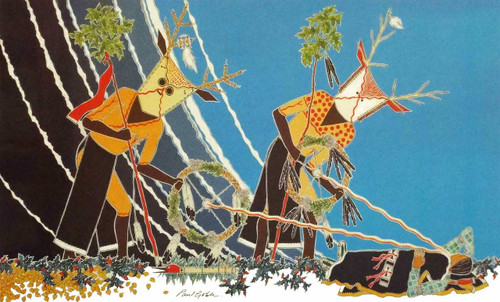 The Elk Men Give the Flute | Paul Goble | print