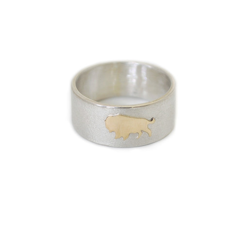 Native American Made Buffalo Band Ring