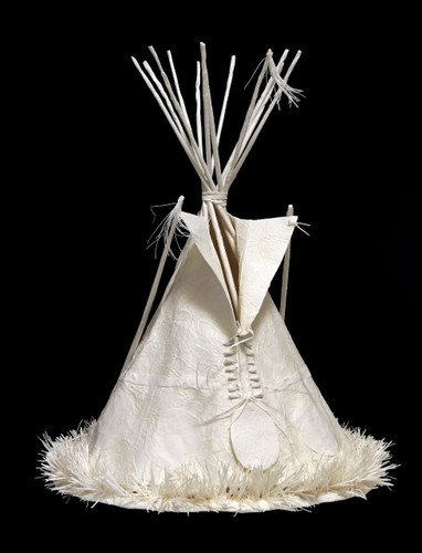 Lakota Lodge | tipi sculpture by Allen Eckman | cast paper sculpture
