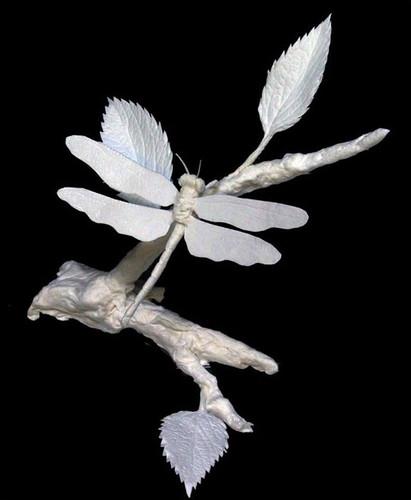 Dragonfly | Patty Eckman | cast paper sculpture