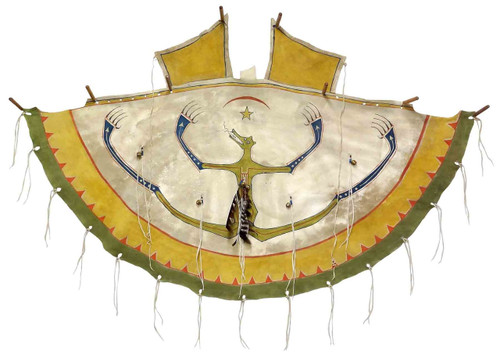 Native American Hand Painted Tipi Wrap: Mato Spirit