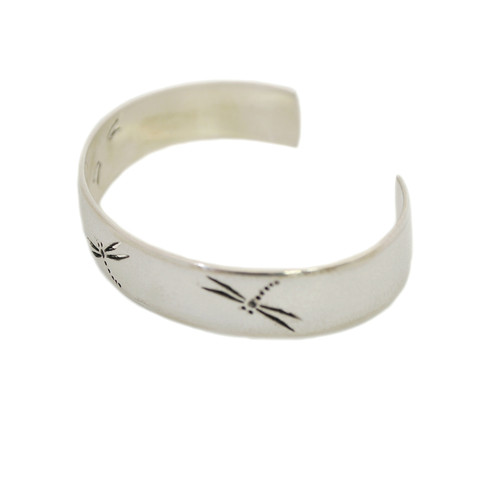 "Native American Made Jewelry: ""Dragonfly"" Sterling Silver Bracelet"