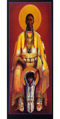 Cheyenne Virgin and Child | Father John Giuliani | print