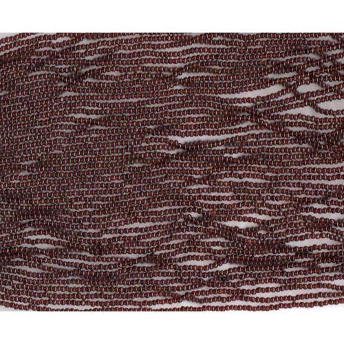 Czech Dark Brown Transparent Glass Bead (174): 13/0 Cut