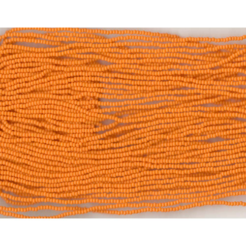Czech Glass Bead Yellow-Orange Opaque: 11/0