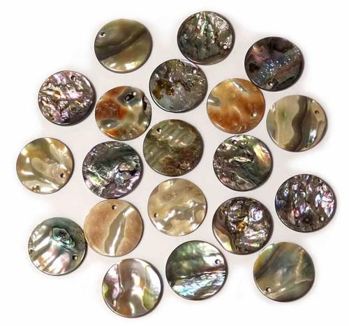 .75 inch 1-Hole abalone shell