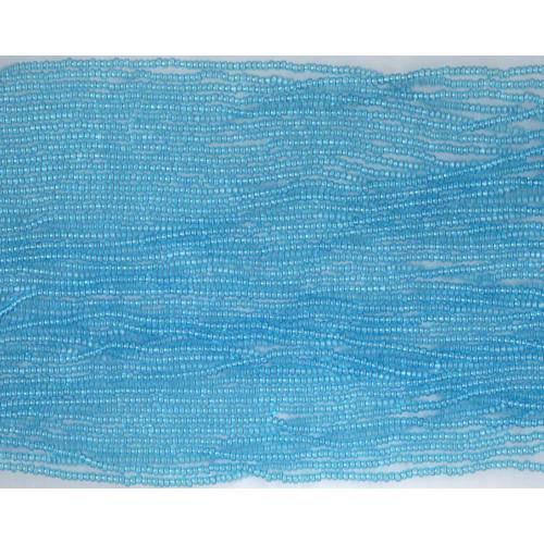 Czech Aqua Blue Transparent Glass Bead: 10/0