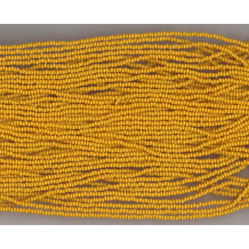 Czech Corn Yellow Opaque Glass Bead: 11/0