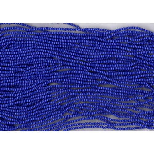 Czech Royal Blue Opaque Glass Bead (260): 11/0