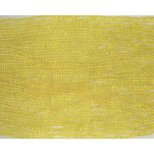 Czech Yellow Transparent Glass Bead (143): 13/0 Cut