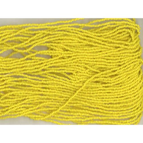 Czech Bright Yellow Opaque Glass Bead (146): 13/0 Cut