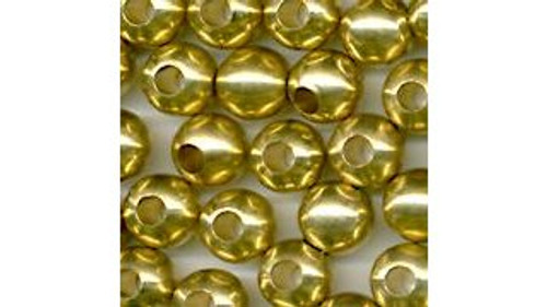 French Solid Brass Beads