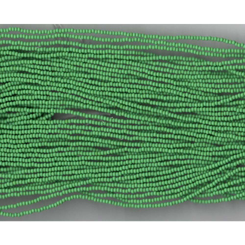 Czech Medium Green Opaque Glass Bead (208): 10/0
